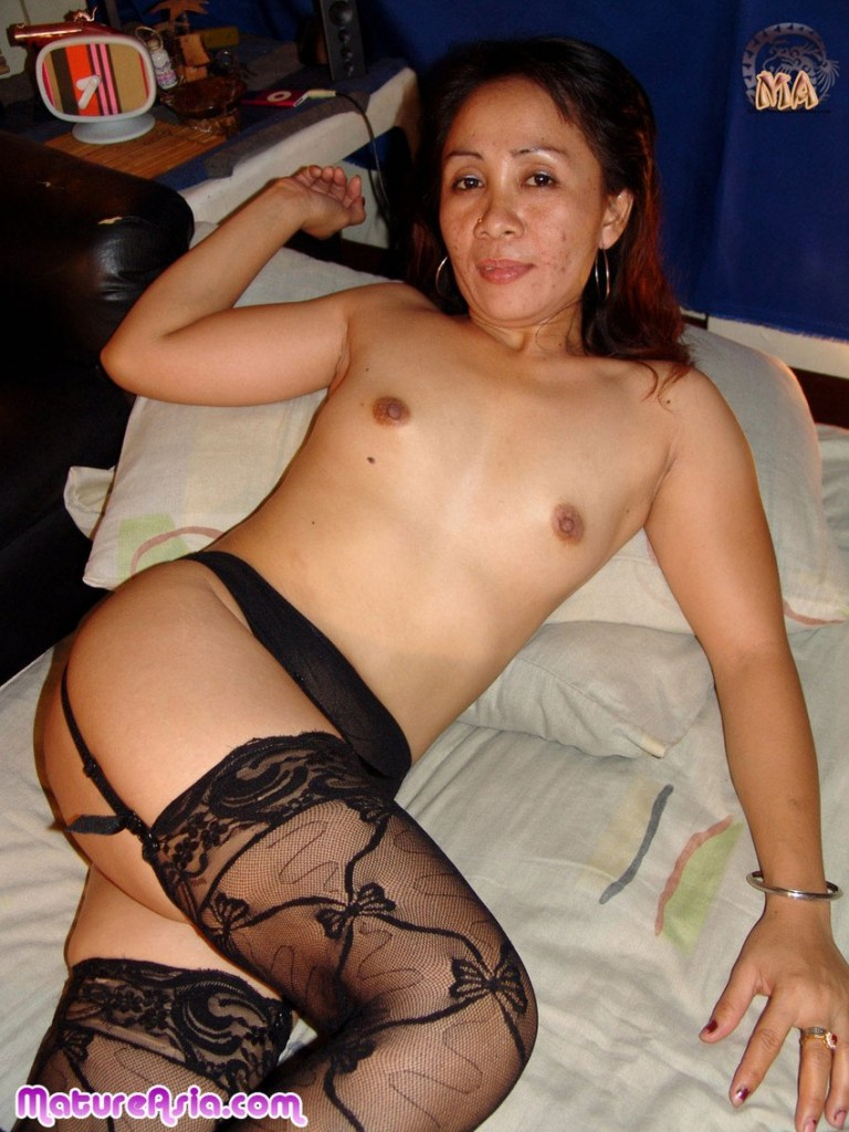 stockings asian mature old