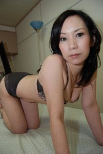 Hot and sexy Asian Milf on her hands and knees