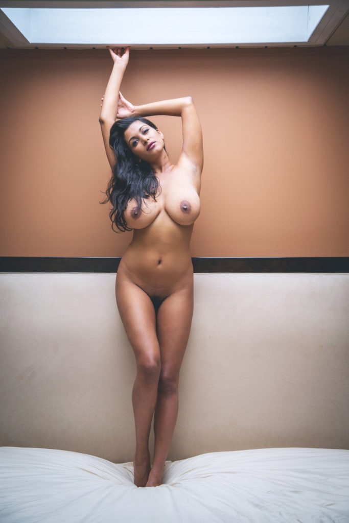 Indian Milf with a very curvy body and huge tits