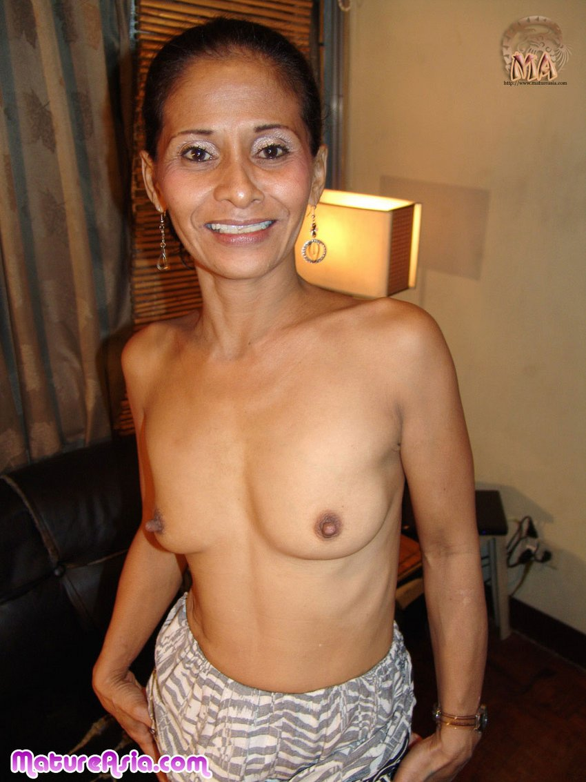 Skinny and sexy mature Filipina Juliet looks great for an OMA granny