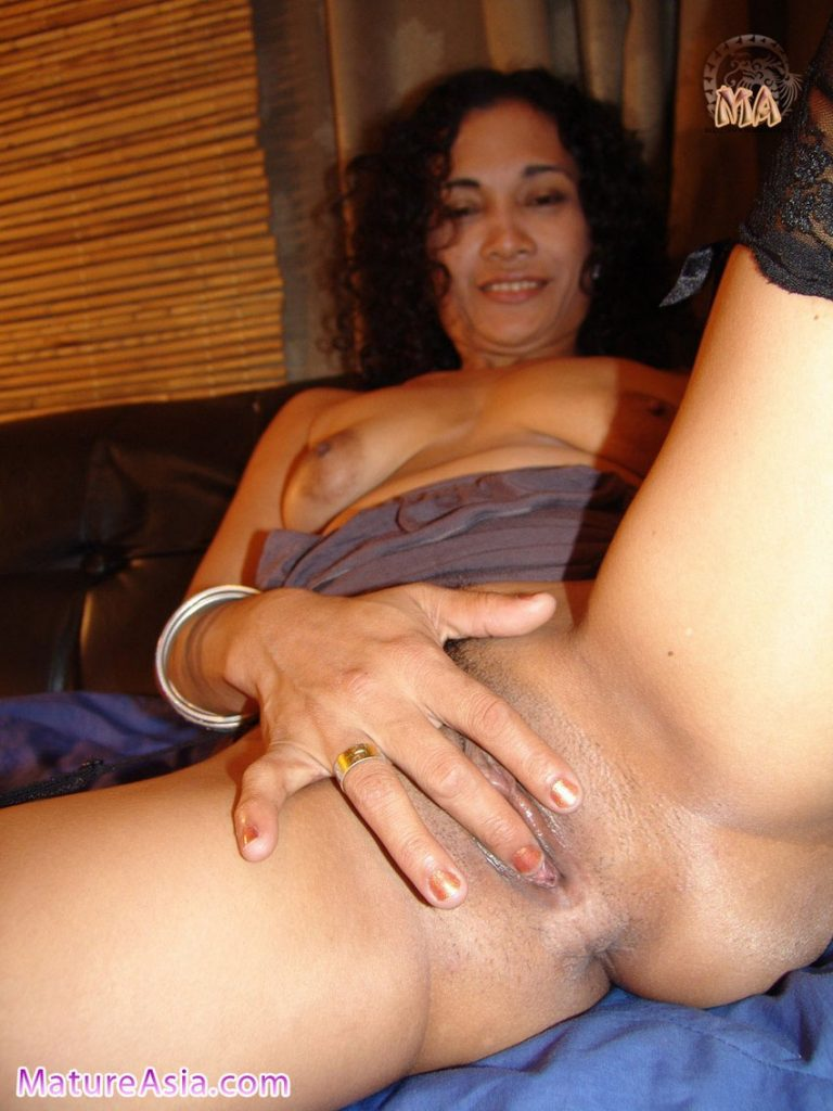 Half Filipino Asian wife Heidi touching her sweet pussy