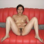 chinese amateur nude red couch