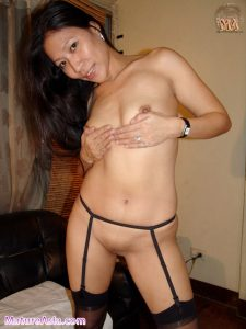 filipina mom shaved pussy stockings asian milf